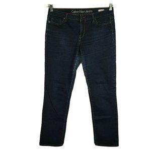Calvin Klein Straight Jeans Size 29 Dark Wash